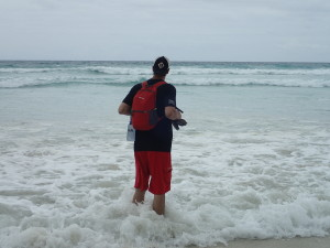 Nothing like walking in the surf