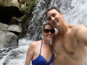 just us at the waterfall